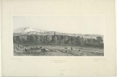 Vue de village Tatar d'Alouchta, Crimée, 23 Octobre 1837