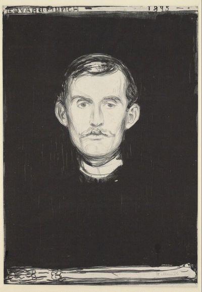 Selbstporträt (mit Knochenarm)