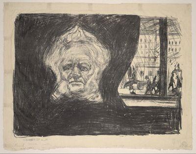 Henrik Ibsen im Cafe des Grand Hotel