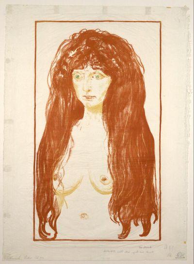 Frau mit rotem Haar und grünen Augen