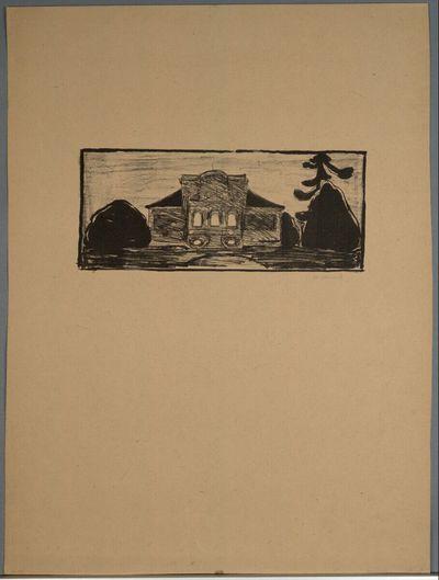 Die Gartenfront des Hauses (Titelblatt)