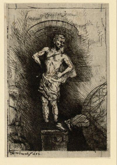 Die Statue, Traumbild Nebukadnezars (Illustration zu Menasse ben Israels