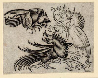 Drei chimärische Vögel