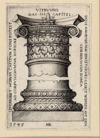 Kapitell und Basis einer Säule