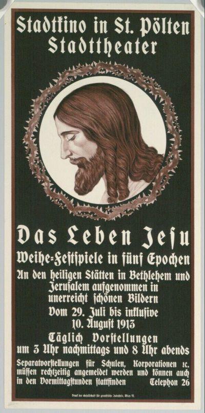 Stadtkino in St. Pölten; Das Leben Jesu; 1913