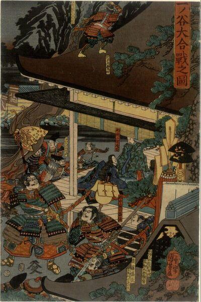 Historische Szene (rechter Teil eines Triptychons)