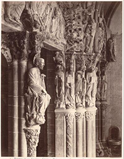 Santiago de Compostela: Portico de la Gloria, Central Pier showing Statue of Saint Iago (from North)