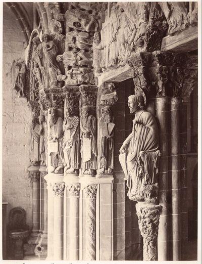 Santiago de Compostela: Portico de la Gloria; Central Pier, showing Statue of Saint Iago (from South)