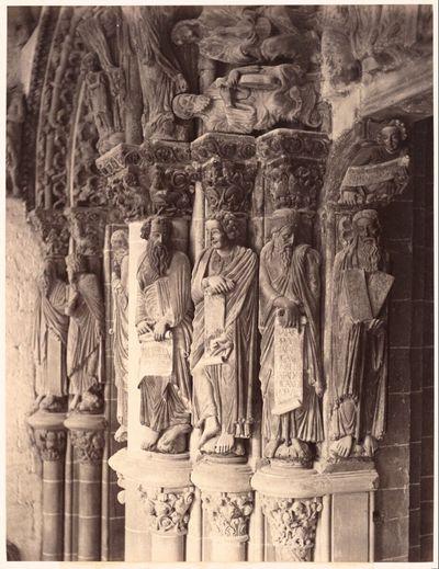 Santiago de Compostela: Portico de la Gloria; Southern Pier, showing Statues of Prophets