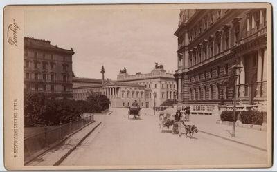 Wien, Am Schmerlingplatz mit Parlament und Justizpalast