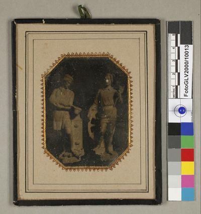 Zwei Figuren von Hans Gasser für das Arsenal in Wien: Metallgießer und Wagner (1852)