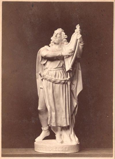 Statue des Tannhäuser (Gipsmodell) von Kaspar Zumbusch
