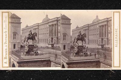 Deutschland, Berlin, Statue des großen Kurfürsten und königliches Schloß