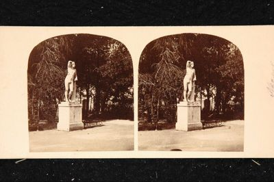 Angebliche Statue des Apollon im Garten der Villa Reale von Neapel
