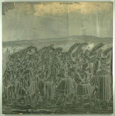 Triumphzug Kaiser Maximilians I.: Männer mit Figuren der Viktoria (1. Teil)