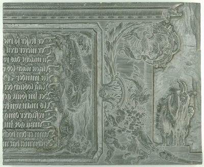 Die Ehrenpforte Kaiser Maximilians I.; C4 - Linker Giebel: Titulus, linke Hälfte