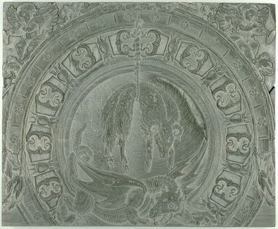 Die Ehrenpforte Kaiser Maximilians I.; C4 - Rechter Giebelabschluss: Vliesorden