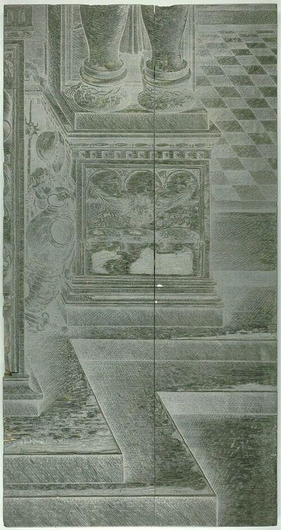 Die Ehrenpforte Kaiser Maximilians I.; C1 - Rechter Sockel Seitenportal