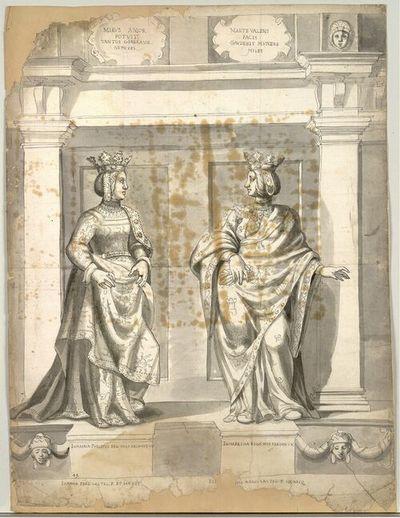 Ioanna Philippi Reg. Hisp. Arch. Aus. VX, Elisabetha Regis Hisp. Ferdin. VX.