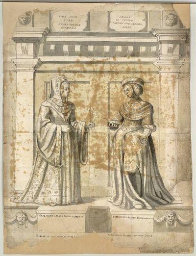 Marg Ioanb Arag et Philib Sabaud Ux, Kunigundis Alberti Boiorum Duc Ux