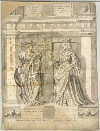 Ioanna. Alberti. II. Archid. Austr. Ux, Elisabetha Alberti. II. Rom. Imp. Ux.