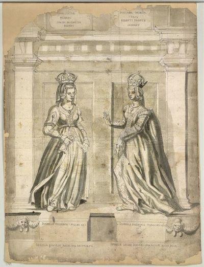 Isabella Friderici III. Pulchri Ux. I., Isabella Friderici III. Pulchri Ux. II.