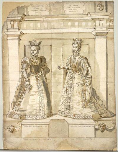 Anna Regis. Hisp Philippi VX IIII, Isabella Regis Hisp Philippi VX III