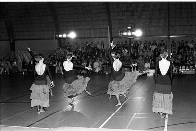 Zierikzee. Groene Weegje. Sportcentrum Onderdak. Optreden van dansgroep Dizzy Feet tijdens het sportgala om de verkiezing van de Sportman/Vrouw en Sportploeg van het Jaar 1988 van de gemeente Zierikzee.