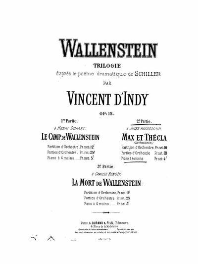 Omnia Wallenstein Trilogie Dapres Le Poeme Dramatique