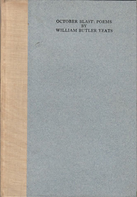 October Blast: poems by William Butler Yeats