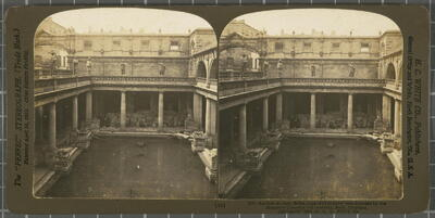 Ancient Roman Baths, supposed to have been founded by the Emperor Claudius (1st century), Bath, England. White, H.C. & Co., The
