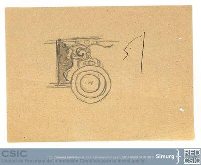 Javier de Winthuysen (1874-1960) | Material gráfico; Detalle de un adorno del Jardín de la Isla de Aranjuez