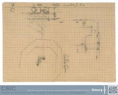 Javier de Winthuysen (1874-1960) | Material gráfico; Boceto del jardín del Príncipe del Pardo