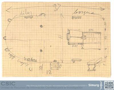 Javier de Winthuysen (1874-1960) | Material gráfico; Borrador del Jardín de Robledo