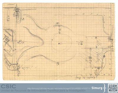 Javier de Winthuysen (1874-1960) | Material gráfico; Planta del Jardín de Robledo