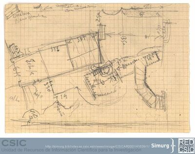 Javier de Winthuysen (1874-1960) | Material gráfico; Croquis del jardín de Robledo