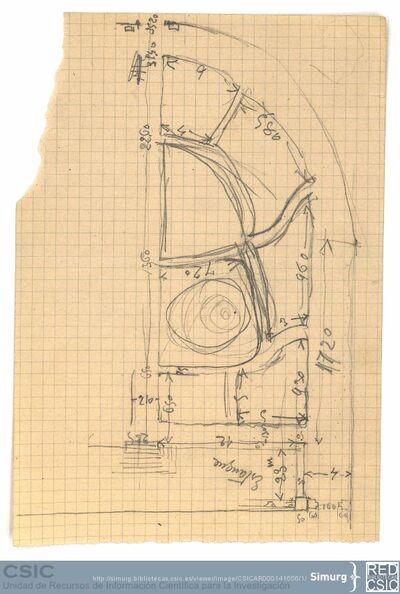 Javier de Winthuysen (1874-1960) | Material gráfico; Dibujo del parterre semicircular de la Casita del Príncipe