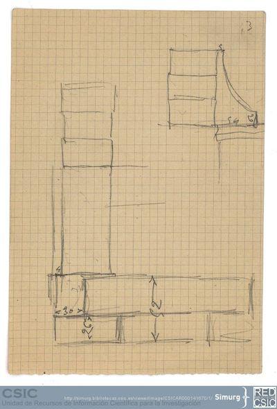 Javier de Winthuysen (1874-1960) | Material gráfico; Esquema del Muro de piedra del jardín del Casino del Infante