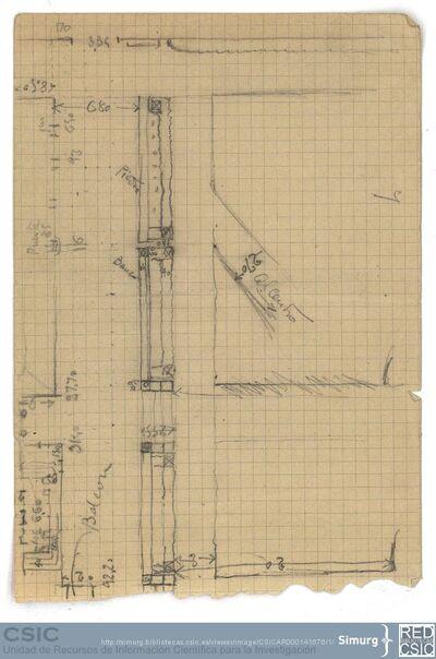 Javier de Winthuysen (1874-1960) | Material gráfico; Dibujo de una sección del jardín del Casino del Infante