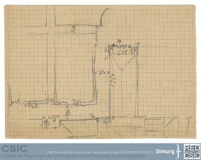 Javier de Winthuysen (1874-1960) | Material gráfico; Esquema de una parte del Jardín del Casino del Príncipe