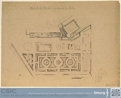 Javier de Winthuysen (1874-1960) | Material gráfico; Planta del Jardín de la Piña. La Florida