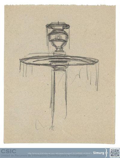 Javier de Winthuysen (1874-1960) | Material gráfico; Dibujo de la fuente del laberinto del Jardín de Moncloa