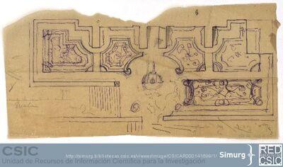 Javier de Winthuysen (1874-1960) | Material gráfico; Planta del jardín alto del Palacio de la Moncloa