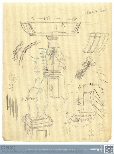 Javier de Winthuysen (1874-1960) | Material gráfico; Boceto del jardín de la Princesa del Jardín de la Moncloa