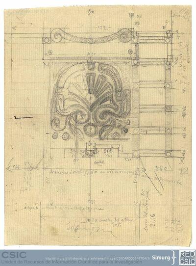 Javier de Winthuysen (1874-1960) | Material gráfico; Boceto del parterre del jardín de Caño Gordo en la Moncloa