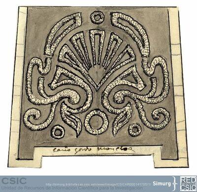 Javier de Winthuysen (1874-1960) | Material gráfico; Dibujo del parterre del Jardín de Caño-gordo en la Moncloa
