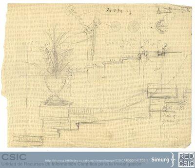 Javier de Winthuysen (1874-1960) | Material gráfico; Detalles ornamentales del jardín de Caño gordo