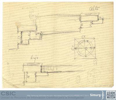 Javier de Winthuysen (1874-1960) | Material gráfico; Croquis de una escalera del jardín del Palacete de la Moncloa