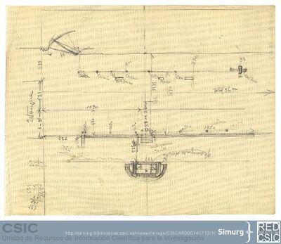 Javier de Winthuysen (1874-1960) | Material gráfico; Esquema del jardín situado al lado del estanque en el Palacete de la Moncloa