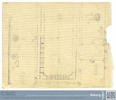 Javier de Winthuysen (1874-1960) | Material gráfico; Dibujo del estanque del jardín del Palacete de la Moncloa